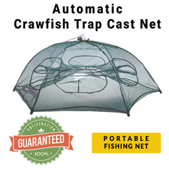 AUTOMATIC CRAWFISH TRAP CAST NET-Score Discount Fishing Supplies