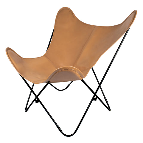 BUTTERFLY CHAIR - DULCHE DE LECHE & BLACK