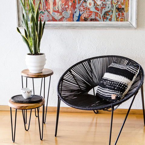 CALI CHAIR - BLACK & BLACK -  - 4