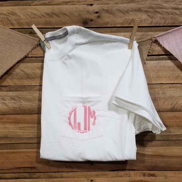 Adult Monogrammed Pocket Tee
