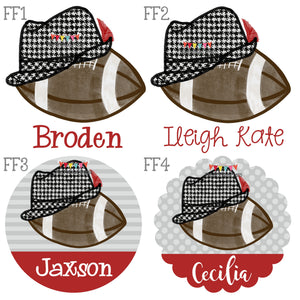 Football & Houndstooth Hat Design Preview