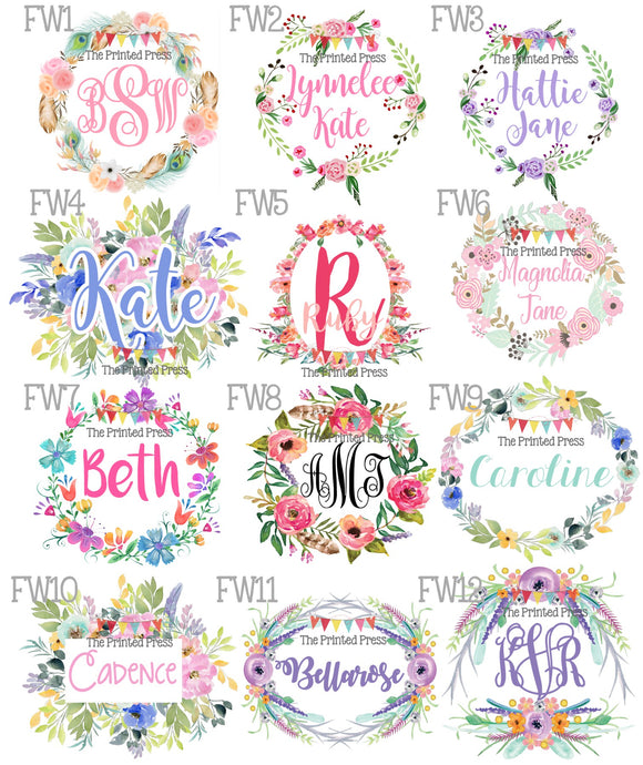 Floral Wreaths Release Designs