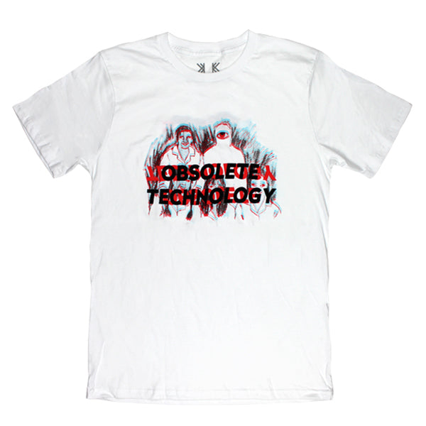 OBSOLETE TECHNOLOGY WHITE T-SHIRT