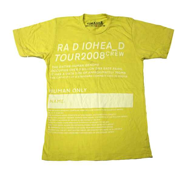 TOUR 2008 CREW TEE - YELLOW