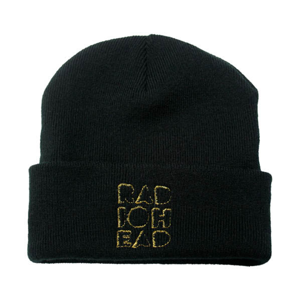 EMBROIDERED CUT OUT LOGO BEANIE