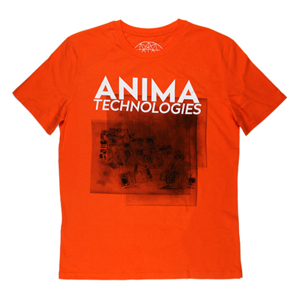 DEAD COMPUTERS ORANGE T-SHIRT