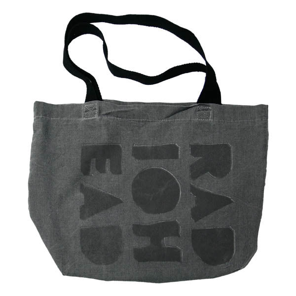 CUT OUT LOGO BLACK TOTE BAG