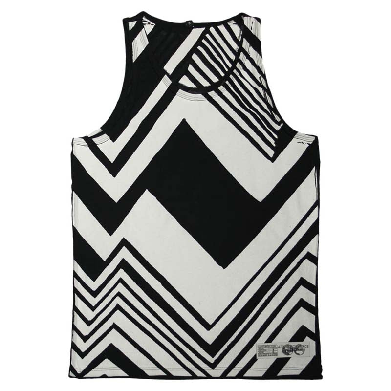 BLACK AND WHITE ZIG ZAG VEST