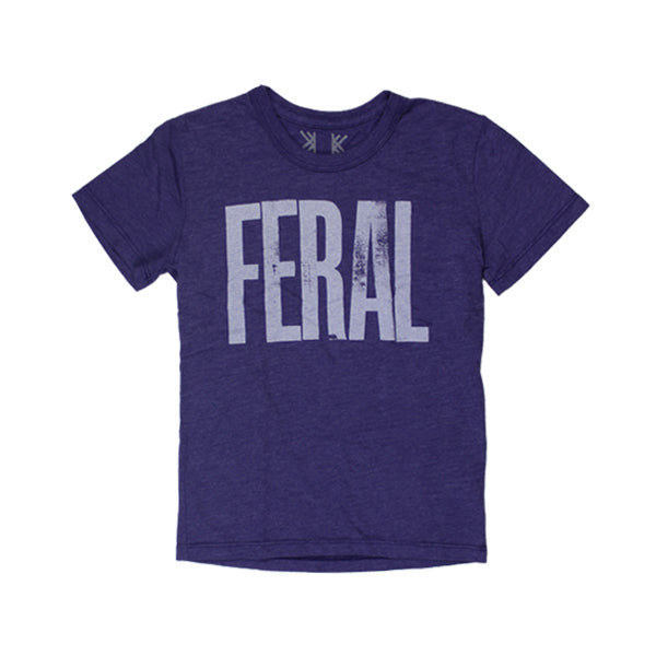 FERAL PURPLE KIDS T-SHIRT