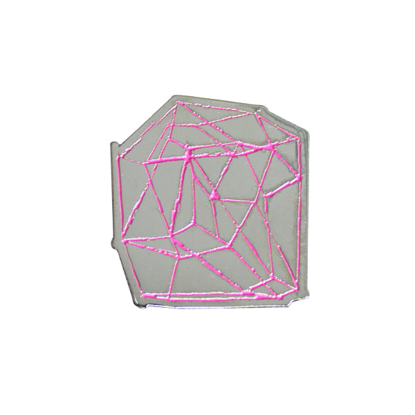 LINE DRAWING ENAMEL PINK PIN