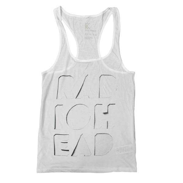 CUT OUT LOGO WHITE TANK