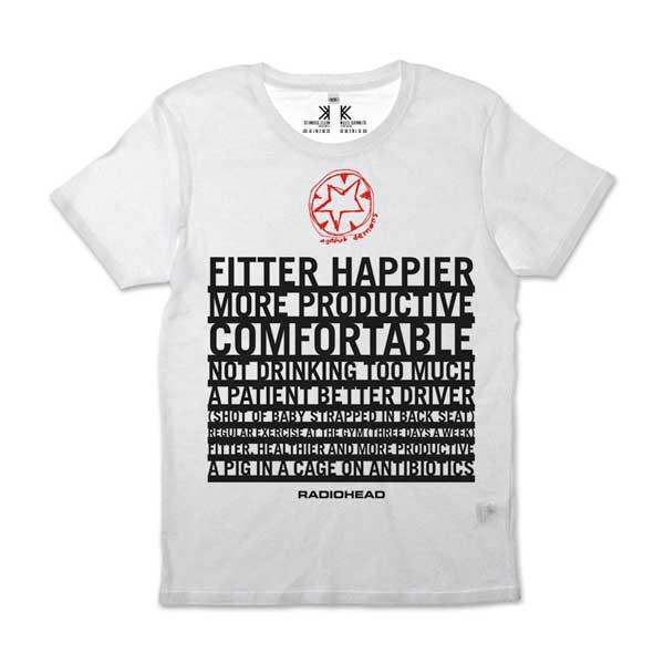 FITTER HAPPIER WHITE T-SHIRT