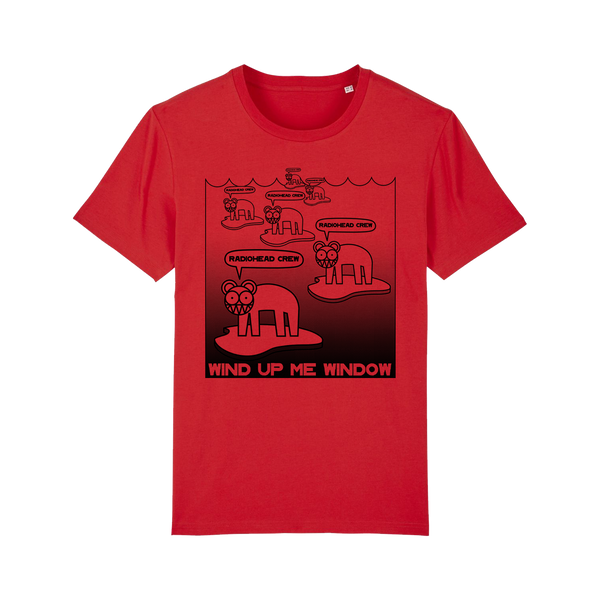 WIND UP ME WINDOW CREW RED T-SHIRT [Pre-Order]