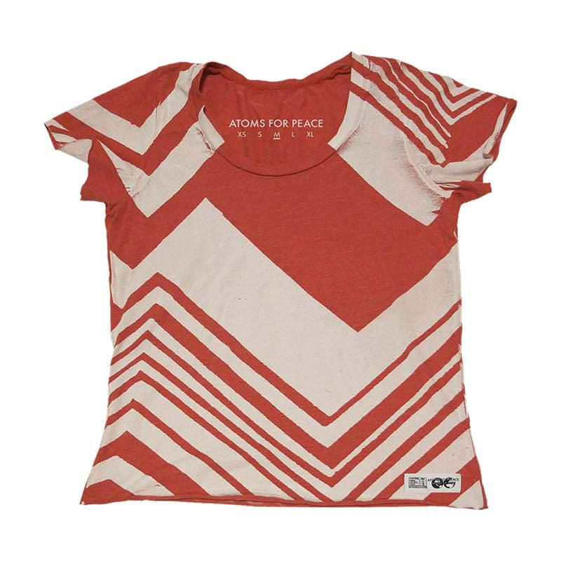 RED/WHITE ZIG-ZAG SCOOP NECK