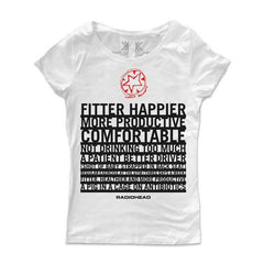 FITTER HAPPIER GIRLS WHITE T-SHIRT
