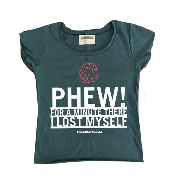 PHEW GIRLS SLATE BLUE SCOOP NECK T-SHIRT