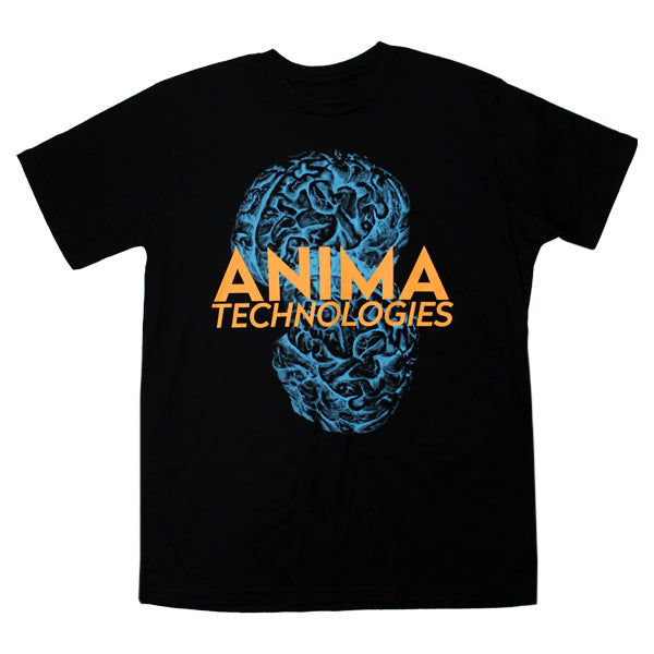 BLUE BRAINS BLACK T-SHIRT