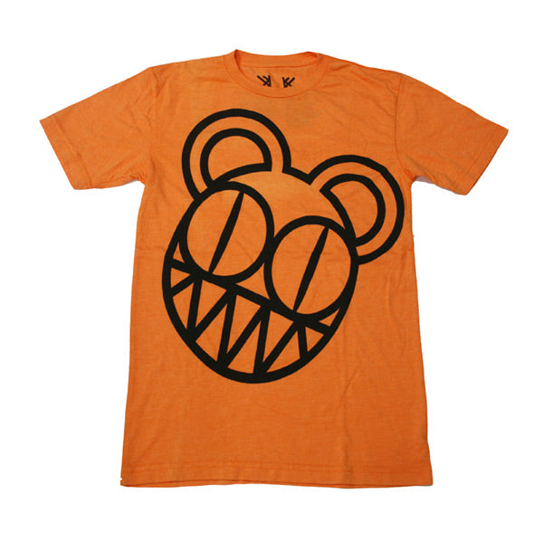 ORANGE WONKY BEARHEAD TEE