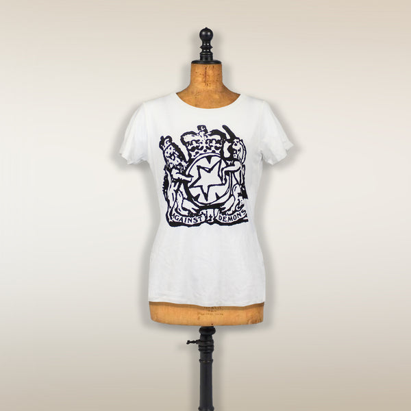 THE LIBRARIAN FEMALE CUT WHITE T-SHIRT
