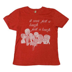 JUST A LAUGH RED T-SHIRT