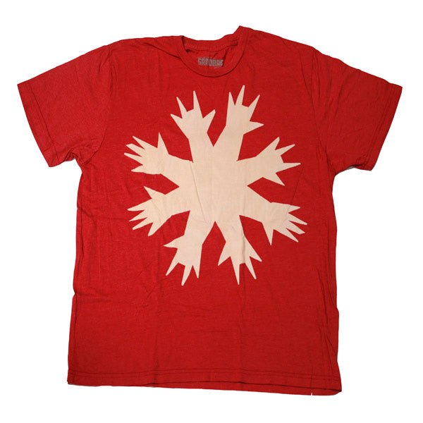 RED CUT HANDS TEE