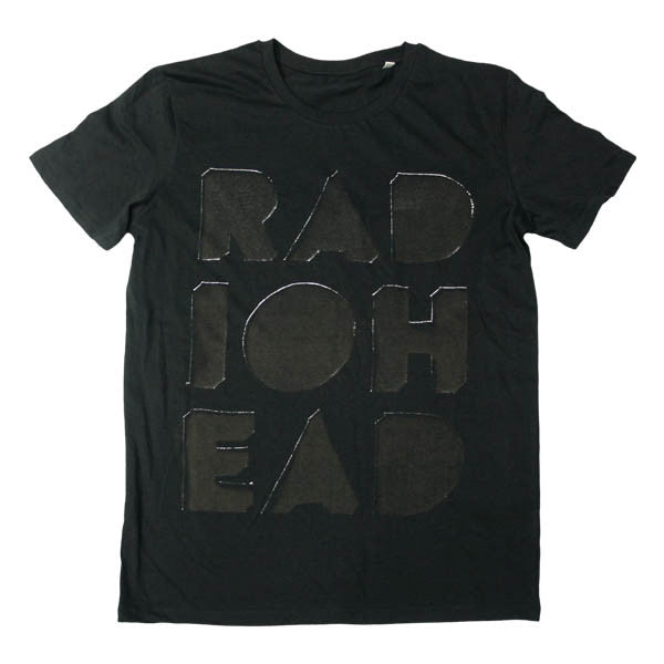 CUT OUT LOGO BLACK T-SHIRT