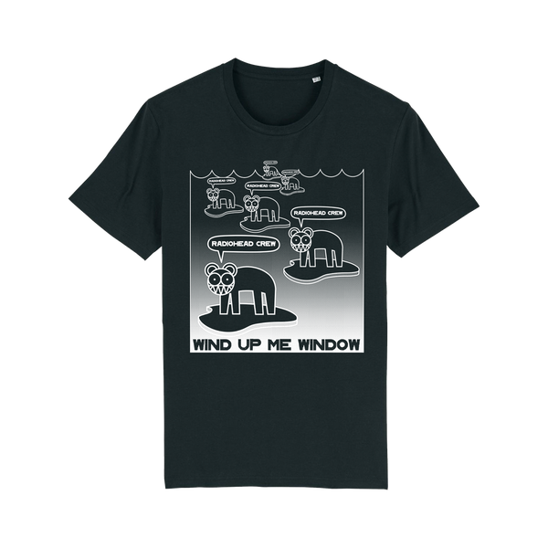 WIND UP ME WINDOW CREW BLACK T-SHIRT