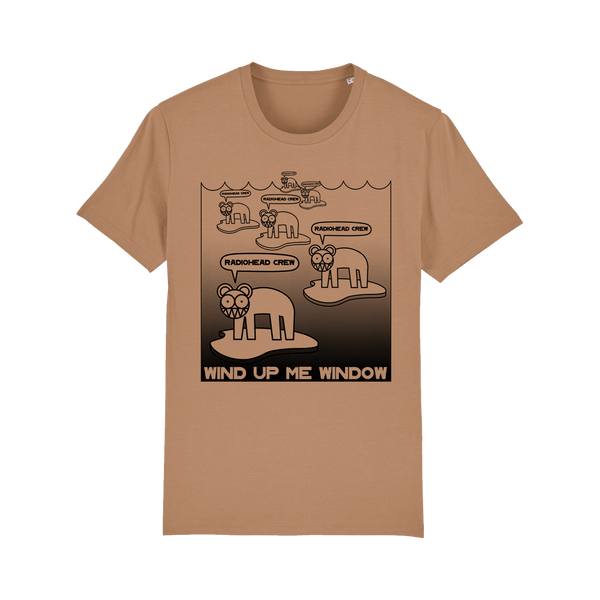 WIND UP ME WINDOW CREW CAMEL T-SHIRT