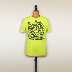THE LIBRARIAN FLUORO YELLOW T-SHIRT
