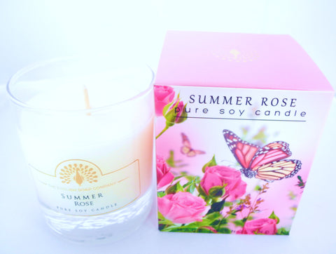 BDR-AR - Rose - Summer Rose Soy Candle - Blue Dreams USA Boutique