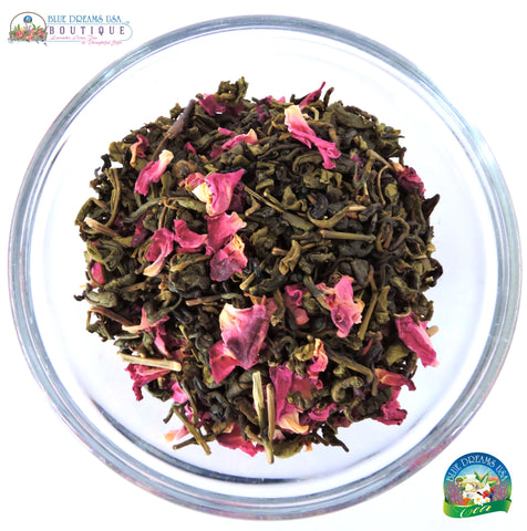 BDT-TEA - Organic Rose Green Tea - Blue Dreams USA Boutique