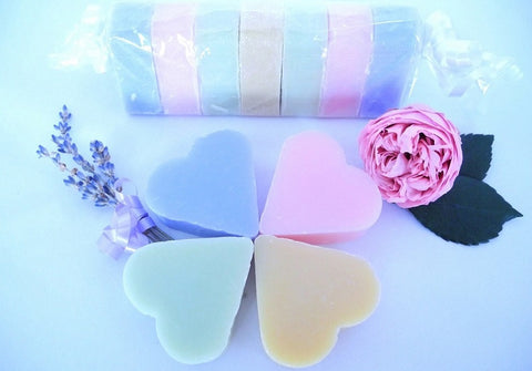 BDL-BB Handmade Natural Soaps - 7 Heart-Shaped Guest Soaps - Blue Dreams USA Boutique