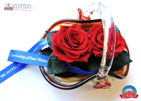 BDR-PR - Just the Two of Us Preserved Roses - Blue Dreams USA Boutique