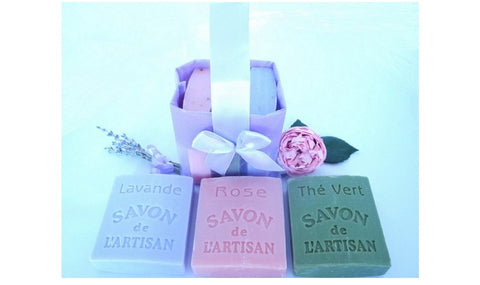 BDL-BB Handmade Natural Soaps-Set of Three- Lavender, Roses and Tea French Soaps - Save! - Blue Dreams USA Boutique