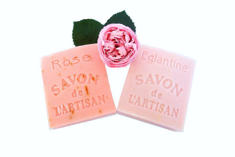BDR-BB Handmade Natural Soaps - Eglantine and Pink Rose Soaps - Set of Two - Blue Dreams USA Boutique