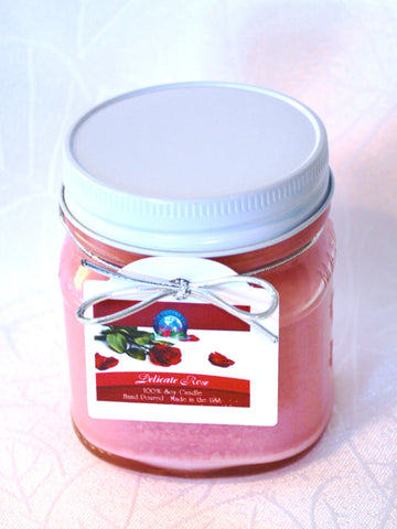 BDR-AR-Delicate Rose Candle - Blue Dreams USA Boutique