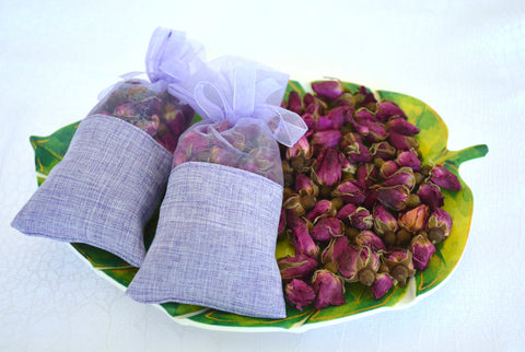 BDR-PR - Dried Roses Sachets (2 Sachet Bags) - Blue Dreams USA Boutique