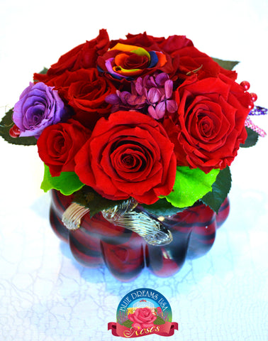 BDR-PR - Warm Ruby Roses - Blue Dreams USA Boutique