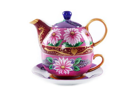 BDT-TTM - Tea Set for One - Echinacea Blueberry - Blue Dreams USA Boutique