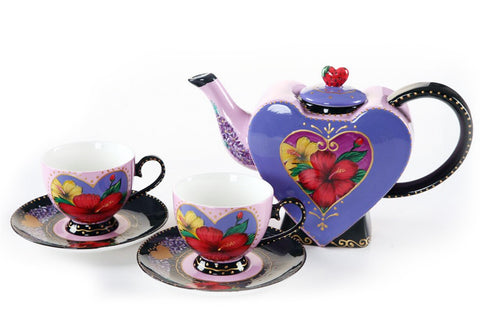 BDT-TTM - Tea Set for Two - Hearty Hibiscus with Strawberry - Blue Dreams USA Boutique