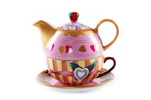 BDT-TTM - Tea Set for One - Strawberry Jasmine - Blue Dreams USA Boutique