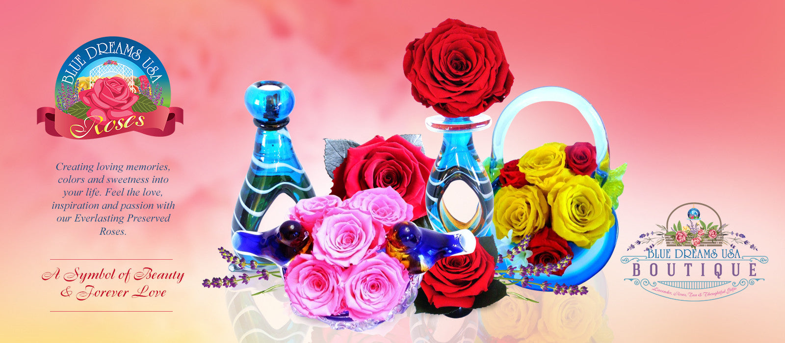 Blue Dreams USA Everlasting Rose Collection