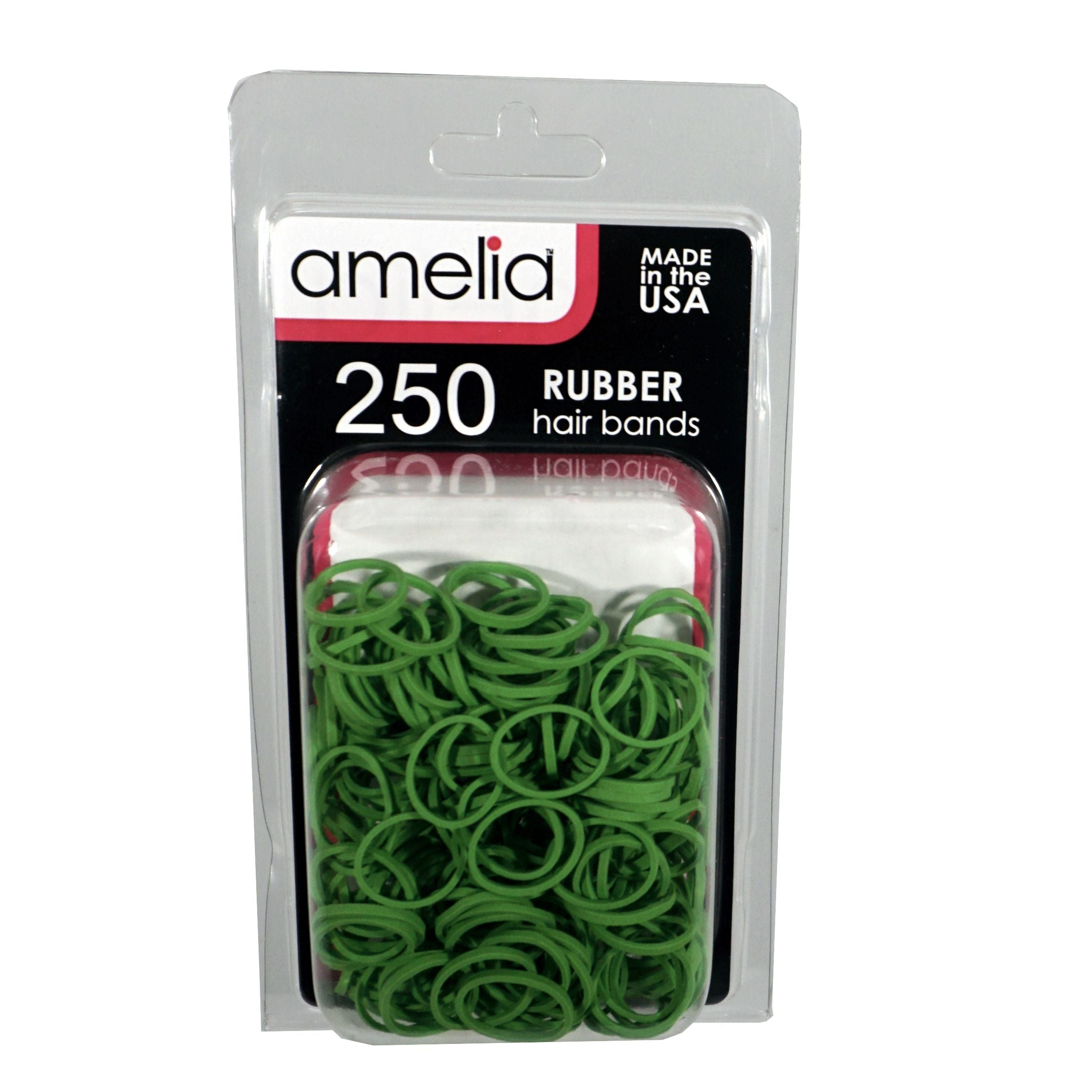 250, Lime, Standard Size,  Rubber Bands for Pony Tails and B
