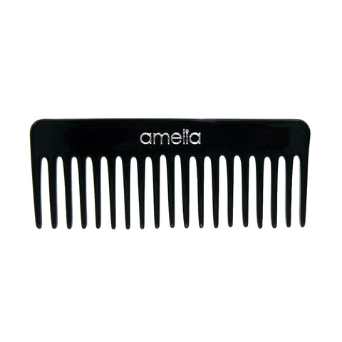 6in Cellulose Acetate Styling Rake Comb - Black Color