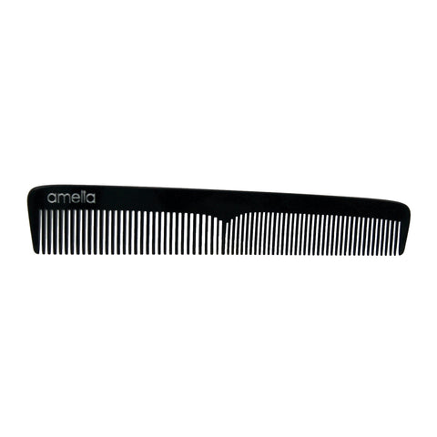 7in Cellulose Acetate Styling Comb - Black Color