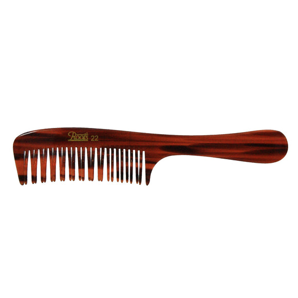 7.5in Roots Cellulose Acetate Volumizing Handle Comb - Clearance