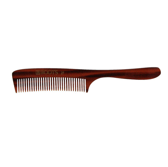 7in Roots 27 Cellulose Acetate Handle Comb - Clearance