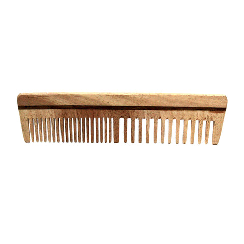 7.5in Wood Styling Extra Course Tooth Comb  - CLOSEOUT, LIMITED STOCK AVAILABLE