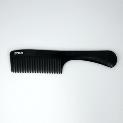 8.5in, Presto Hard Rubber, Handle Comb - Clearance
