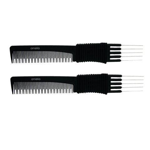 7.75 Stainless Lift/Tease Carbon Comb (2 Pack)